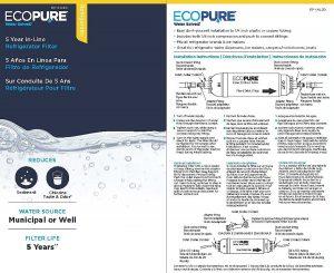 EcoPure EPINL30 5 Year in-Line Refrigerator Filter 1